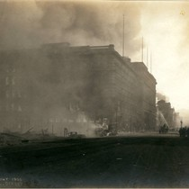 Fourth and Market Streets, San Francisco Earthquake and Fire, 1906 [photograph]