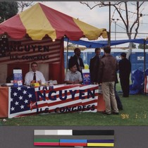 Tan Nguyen for U.S. Congress booth at Tet festival, Garden Grove, California