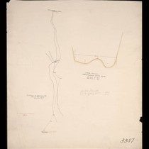 Canon in Section 23 and cross section proposed dam site, 1910