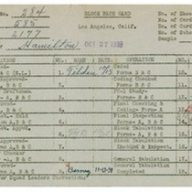 WPA bock face card for household census (block 2177) in Los Angeles ...