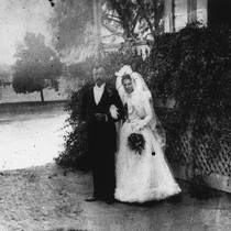 Edward and Carolina Atherton, Wedding Portrait [graphic]