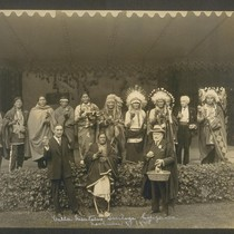 """Villa Montalvo"" Saratoga, California, November 1, 1925 [Phelan with Native Americans]"