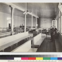 U.S. Immigration Station, Angel Island, San Francisco Bay. Examination room--main building