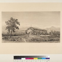 [View of San Antonio de Padua Mission, California]