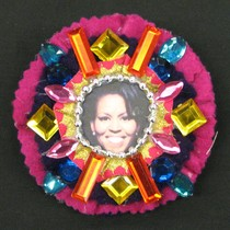 Bejeweled Michelle Obama Brooch