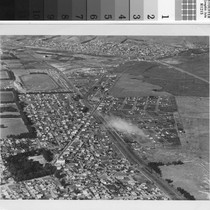Aerial view with Tanforan Park Race Track no. 1, San Bruno, 1932