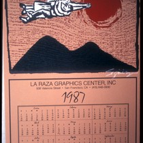 1987 Calendar for La Raza Graphics Center