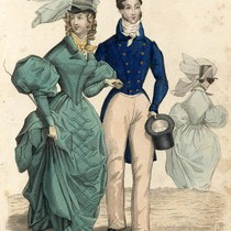 Couple in riding outfits