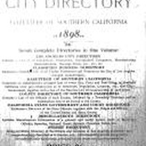 Los Angeles City Directory, 1898