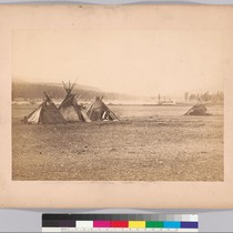 [Indian wigwams near Fort Colville.]