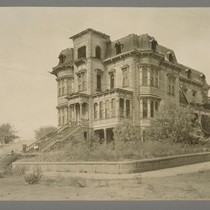 [Abandoned Victorian mansion. Unidentified location.]