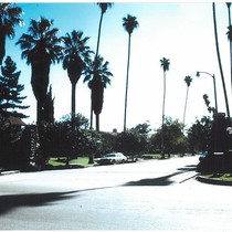 1975 Slide Show: Cultural Landmarks of South Pasadena: Oaklawn Portals Street Scene