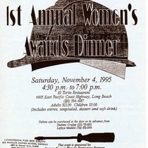 1st Annual Women's Awards Dinner flyer