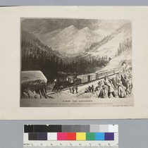 """Across the Continent: The snow sheds on the Central Pacific Railroad, in ..."