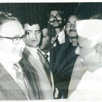 Henry Kissinger and Indian Prime Minister Y.B. Chavan