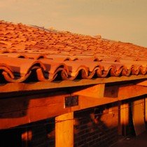 Completed roof tiles at Agbayani village