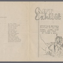 Art Exhibit of Oliver K. Noji invitation (5-14-43)