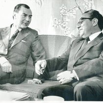 Henry Kissinger and Belgium's Premier Leo Tindemans