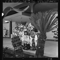 Japanese American children at temple dedication