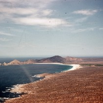 Aerial photograph of Cabo San Lucas on the Baja California peninsula