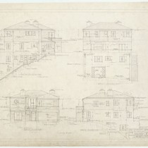 Clarke Residence, elevations, San Francisco, 1937