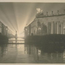 "H100. [Court of Four Seasons (Henry Bacon, architect), illuminated by scintillator. ""Fountain ..."