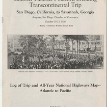 An account of Colonel Fletcher's record-breaking transcontinental trip : San Diego, California, ...