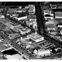 Aerial view of Westwood Village, 1936