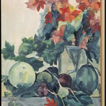 Autumn Leaves, Melons and Vegetables