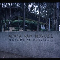 Aldea San Miguel student housing UCSF - sign