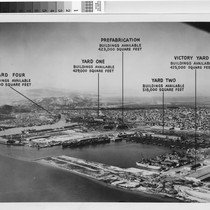 [Aerial photograph of Richmond Shipyards with building availability]