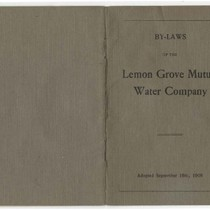 By-laws of the Lemon Grove Mutual Water Company : adopted September 16th, ...