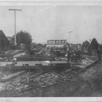 Earthquake-flattened structure, 1906