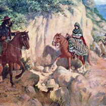 "Alexander Harmer Painting -""On the Trail to the Summit"""