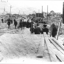 4th Street looking east from B Street, Santa Rosa, California, 1906