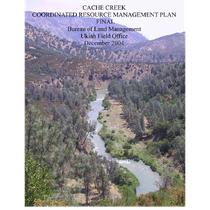 Cache Creek Coordinated Resource Management Plan [CRMP] - Final