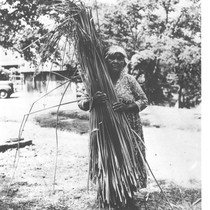 Tachi Woman with bundle of tules