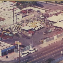 Aerial view of Orbit Rental, Whittier, California