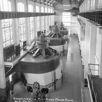 Generators in Pitt River Power House No. 3., Calif