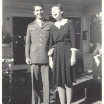 1942: Dave and Iola Brubeck in front of Whitlock home