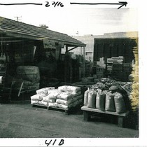 Bags Stacked on Pallets at San Pascual Building Supply