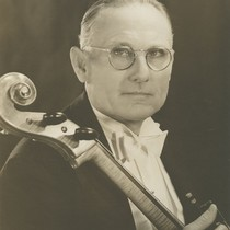Allan Hancock, with cello