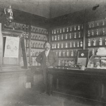 """Doc Cota, clerk at the Marquis Drug Store"