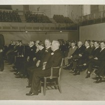 Frederick J. Koster addressing Law and Order meeting at Civic Auditorium, Wed. ...