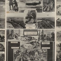 [No title: Soviet photos poster: printed in English: Soviet military in action: ...