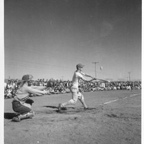 The 1944 league baseball season got under way at the Tule Lake ...
