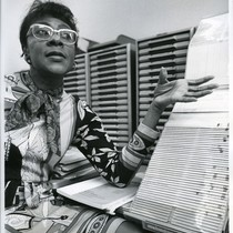 Acquisitions librarian Dorothy Allen