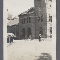 [Post Office building, San Jose, Calif., with dome of St. Joseph's Church ...