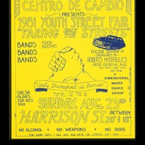 1981 Youth Street Fair 'Taking Back The Streets', Announcement Poster for