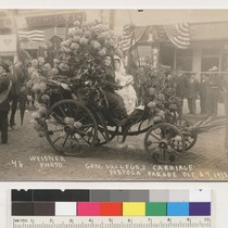 Gen. Vallejo's carriage, Portola parade, Oct. 24, 1913. [Carriage carrying Vallejo relatives]